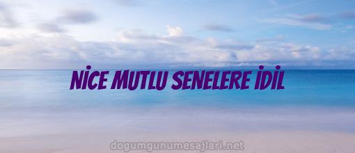 NİCE MUTLU SENELERE İDİL
