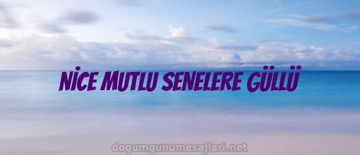 NİCE MUTLU SENELERE GÜLLÜ