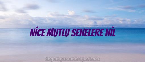 NİCE MUTLU SENELERE NİL