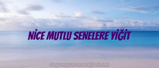 NİCE MUTLU SENELERE YİĞİT