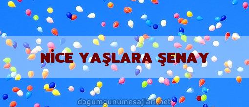 NİCE YAŞLARA ŞENAY
