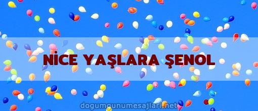 NİCE YAŞLARA ŞENOL