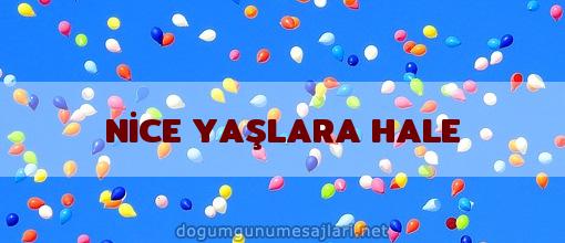 NİCE YAŞLARA HALE