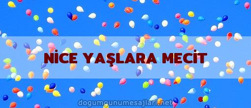 NİCE YAŞLARA MECİT