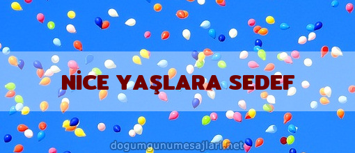 NİCE YAŞLARA SEDEF